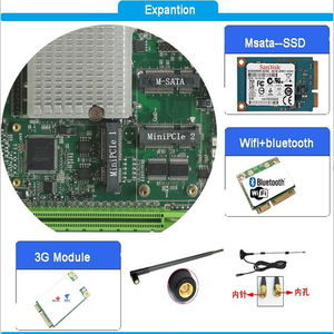Image 4 - hot sale Intel core I7 3610QM CPU with 2xPCI slot Fanless Mini ITX industrial Motherboard for pos terminal