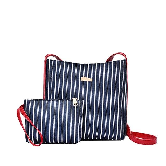 US $12.88 |2Pcs/Set luxury striped handbag