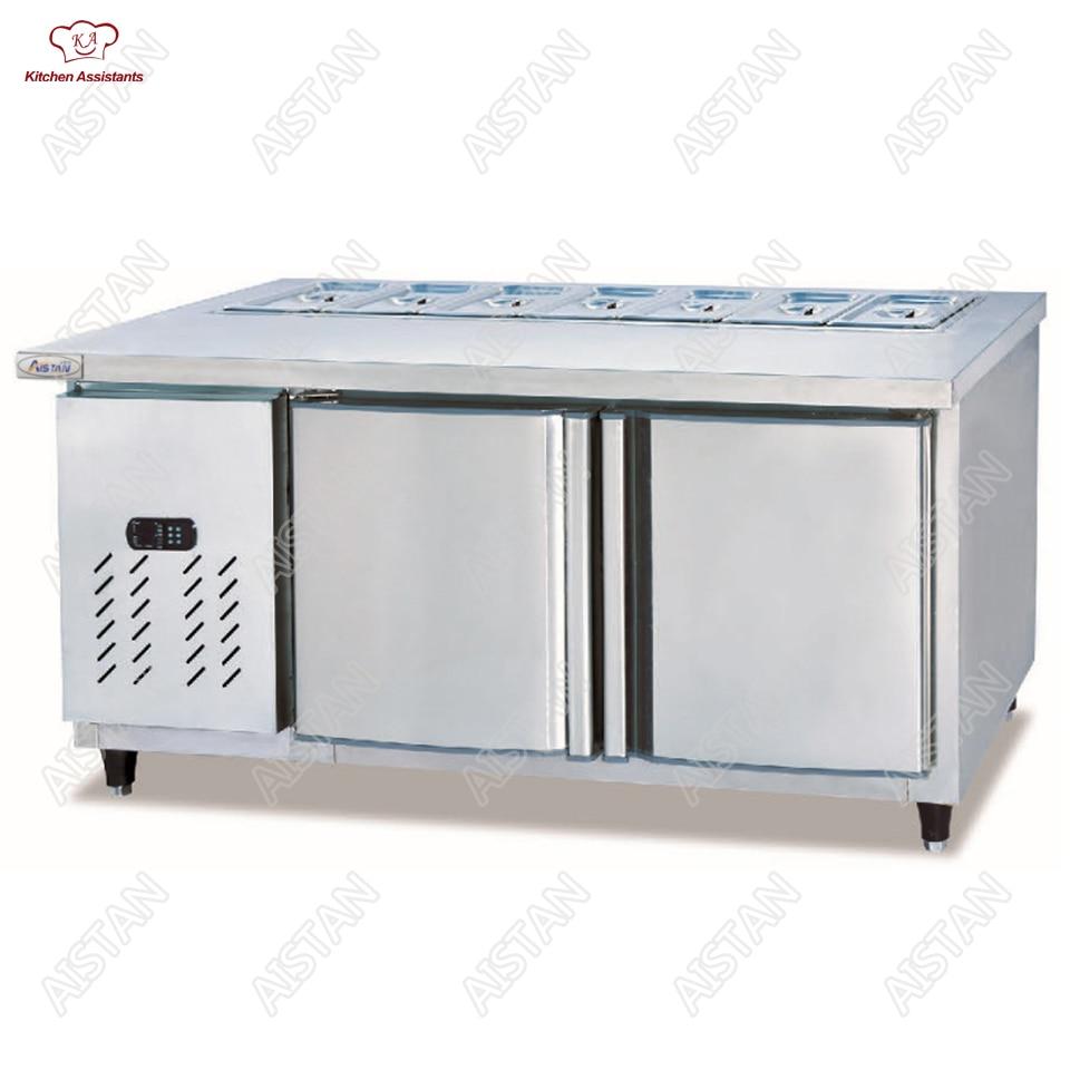 TS1500/1800 Salad Display Counter Pizza Fridge Table цена