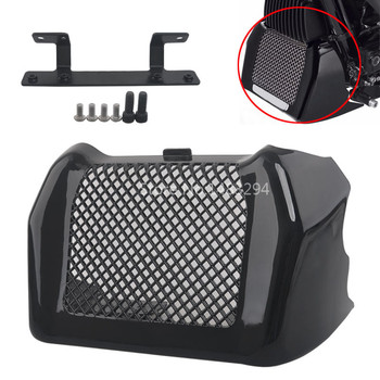 Glossy Black ABS Oil Cooler Cover ABS Plastic Fit For Harley Touring FLHR FLHRX FLHX FLRT 17-up