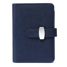 Ofss современный Дизайн A6 персональный органайзер планировщик PU кожаная обложка дневника Тетрадь школьные канцелярские принадлежности (синий)