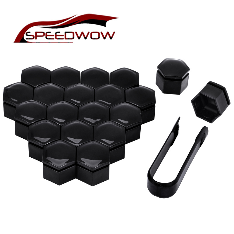 SPEEDWOW 20pcs 22mm Car Wheel Hub Screw Cover Wheel Nut Bolt Cover Cap Protective Bolt Caps Hub Screw Protector Car Styling