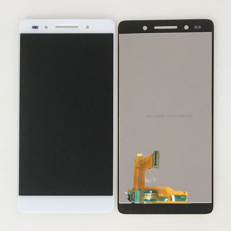 Подробнее о White LCD Touch Screen Digitizer Glass Assembly For Huawei Honor 7 PLK-TL00 UL00 CL00 lcd display touch screen digitizer assembly for huawei honor 7 plk al10 tl01h cl00 panel front outer glass lens black white gold