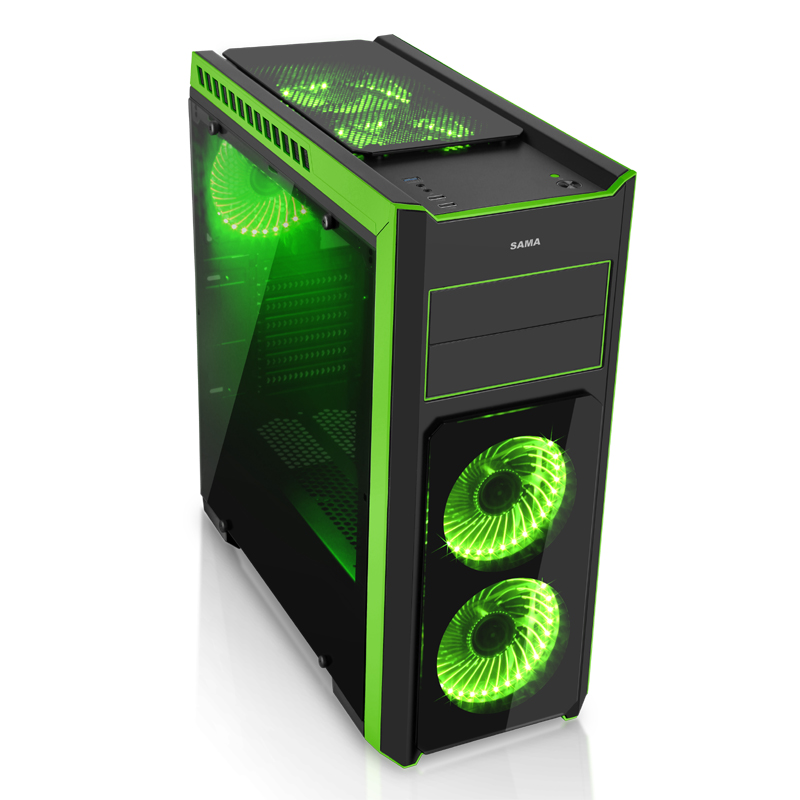 ATX Computer Case Acrylic full penetration Support high tower CPU heatsink Desktop LOL chassis 3u380 short computer case server dvr chassis support atx large panel pc power supply htpc aluminum panel full
