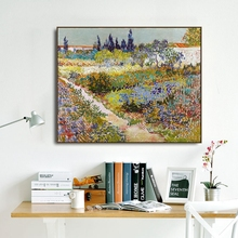 Flowers Field by Vincent Van Gogh Poster and Print Canvas Painting Calligraphy Wall Pictures for Living Room Bedroom Home Decor