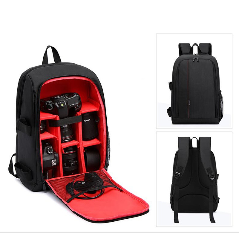camera backpack bag Multi functional Bag Digital DSLR Camera Bag Video Case Shockproof Waterproof PE Padded Photographer in Backpacks from Luggage Bags