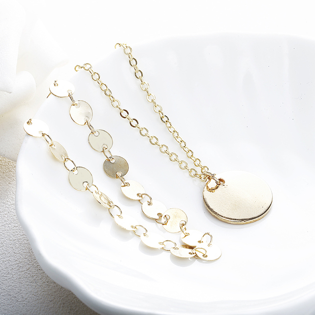 Купить богемное многослойное чокер с цепочкой ожерелье золотистого