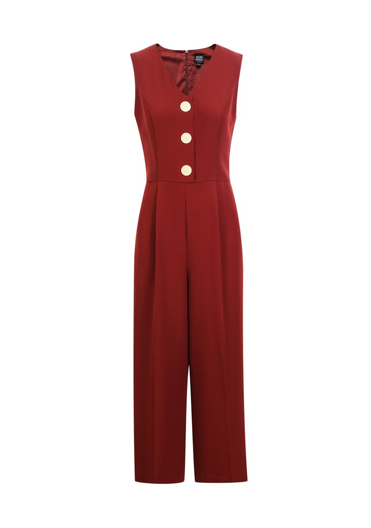 Vero Moda spring fashionable V-collar loose-leg cropped Jumpsuits for women |318144507 21