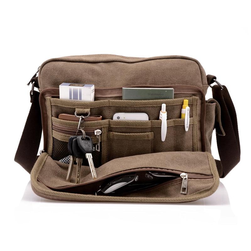 35e8d9195f66 2018 Высокое качество Мужская Холщовая Сумка повседневная дорожная мужская  сумка через плечо роскошные мужские сумки-
