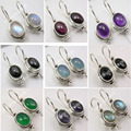 Silver Moonstone, Lapis, Pearl & Other Choice Gem stone Variation Earrings