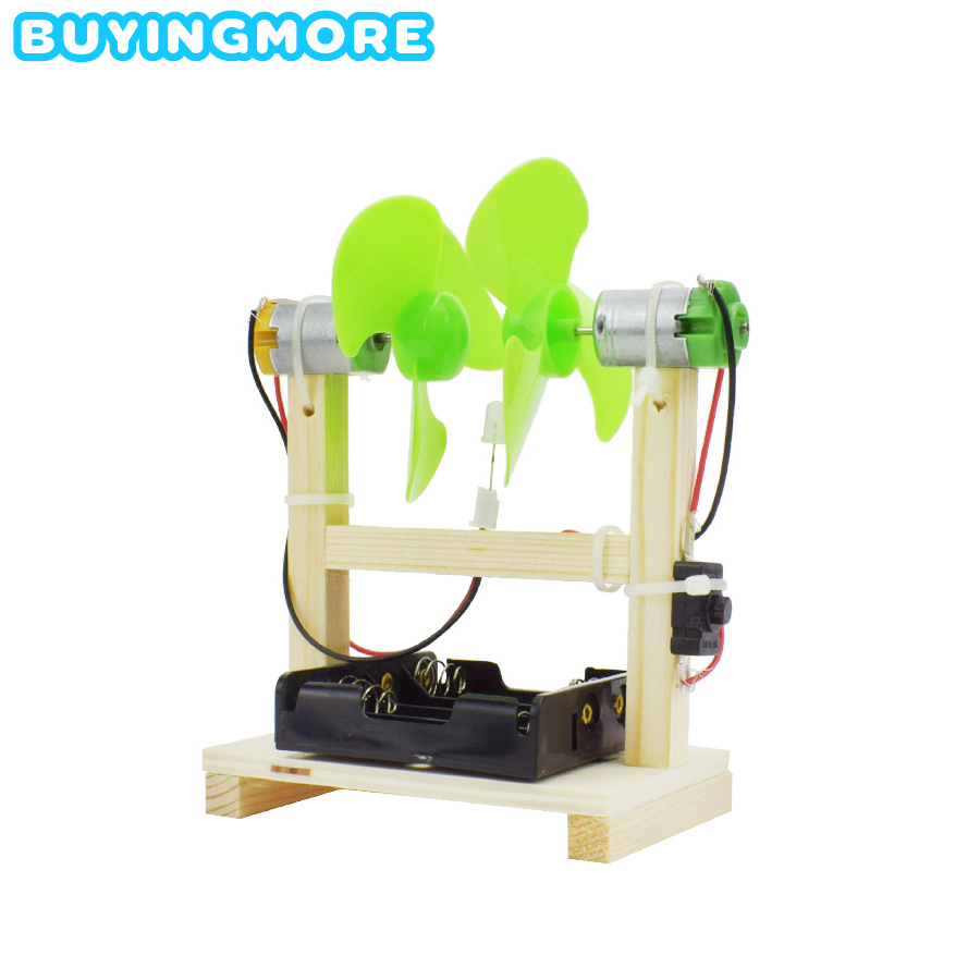 Wind Power Generation Model Kit Educational Toys For Children Exploring Science Experiment Handmade DIY Assembly Creative Toy