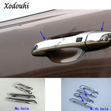 Car body styling detector inner stick frame lamp trim ABS chrome door handle 8pcs for Kia Sportage KX5 2016 2017 2018 for mitsubishi outlander 2016 2017 2018 car body cover protect detector sticks frame lamp trim abs chrome car door handle 8pcs