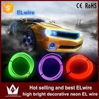 Guang Dian 5 M ou 6 M néon Rond EL Fil Corde propulsé Flexible Lumière Décor Glow Avec Contrôleur cigarette onduleur de voiture décoration