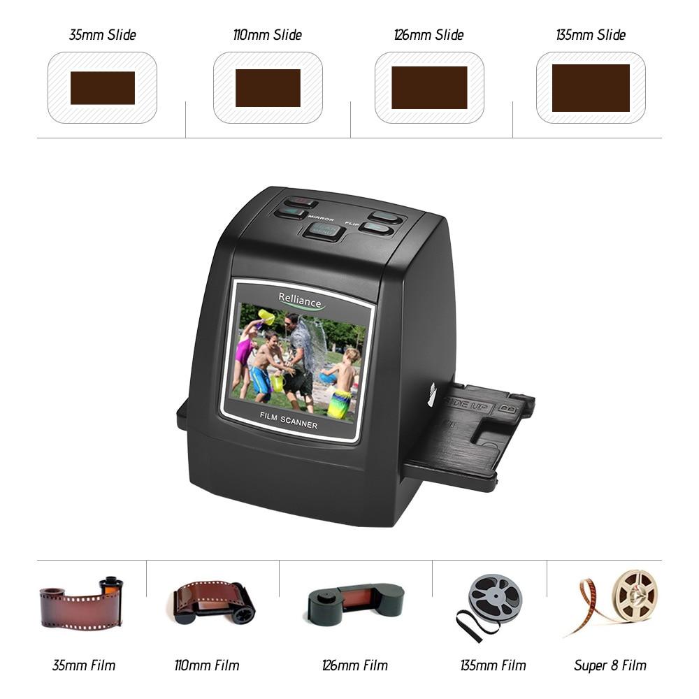 14MP 22MP Film Scanner Convert 35 135 126 110 8mm Color Monochrome Slide Film Negative into