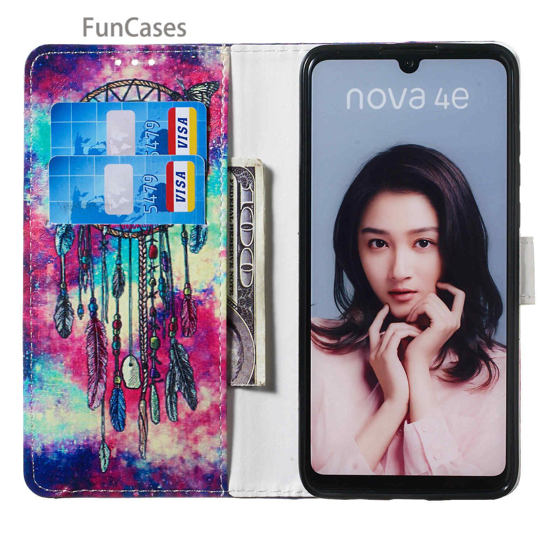Carillons éoliens couvre téléphone intelligent pour Huawei P10 Lite Huawei Ascend Nova Lite P30 Pro Honor 10 P8 2017 P9 P10 portefeuille à rabat