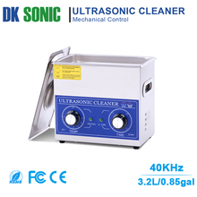 3.2L 120W Ultrasonic Jewelry Cleaner with Knob Control Timer Heater Stainless Baskets for Ring Glasses Tooth False PCB Dental