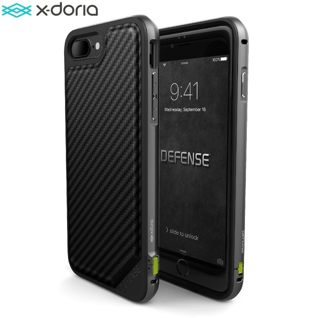 promo code 6903b f9355 US $24.37 35% OFF|X Doria Defense Lux Phone Case For iPhone 7 iPhone 7 Plus  Case Military Grade Drop Tested TPU Aluminum Protective Cover Coque -in ...