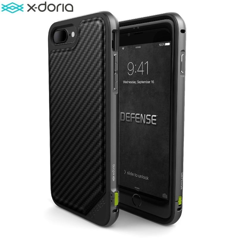 imágenes para X-doria Defensa Lux Caso para el iphone 7/iPhone 7 Plus Coque, Grado militar del Ensayo de Caída, TPU y Aluminio, Cubierta Protectora del teléfono