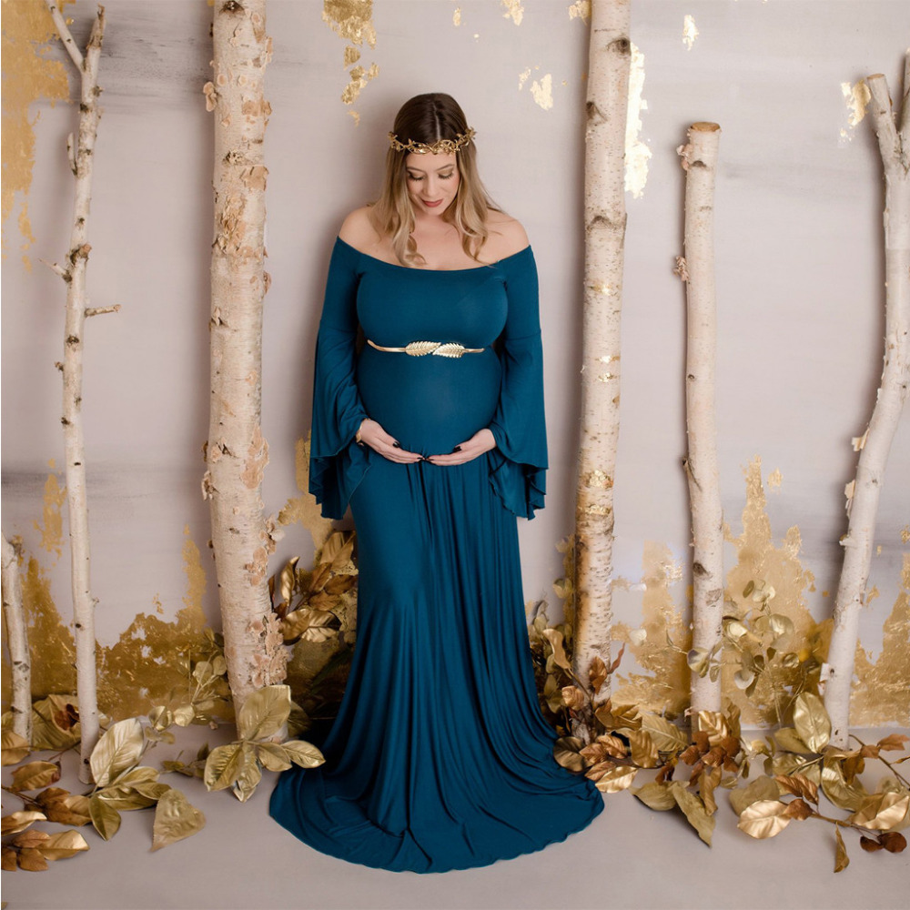 2019 Maternity Photography Props Maxi Pregnancy Clothes Lace Maternity Dress Fancy Shooting Photo Summer Pregnant Dress Xxl-5xl