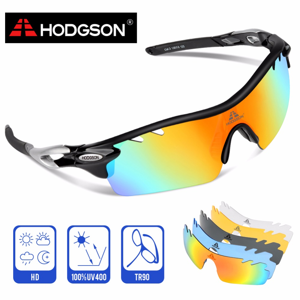 ba537fc0fc 8004 HODGSON Brand New Designed Anti-fog Cycling Glasses Sports Eyewear  Bicycle Goggles Bike Sunglasses with 2 Polarized Lenses
