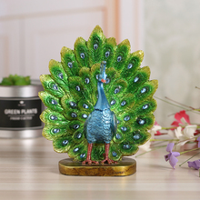 ФОТО peacock open screen sculpture handmade resin handicraft ornament craft gift for creative living room home decoration 17191