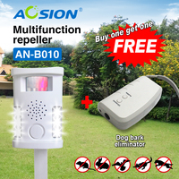 Aosion Free Shipping Eco Friendly Ultrasonic Animal Repeller Dog Cat Bird Repellent With Solar Panel Got