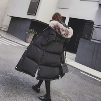 Plus Size X Long Style Winter Jackets Woman 2017 New Fur Hooded Cool Black Gray Windproof