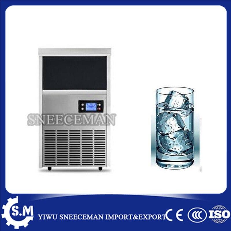 Máquina de hielo del hogar de 26 kg por día pequeña máquina de hielo comercial de la tienda de té de la leche máquina de hielo
