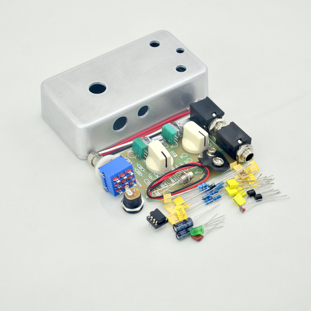 цены Nwe DIY Handmade Compressor effect pedal kit full metal pre-drilled guitar stompbox pedals Kit