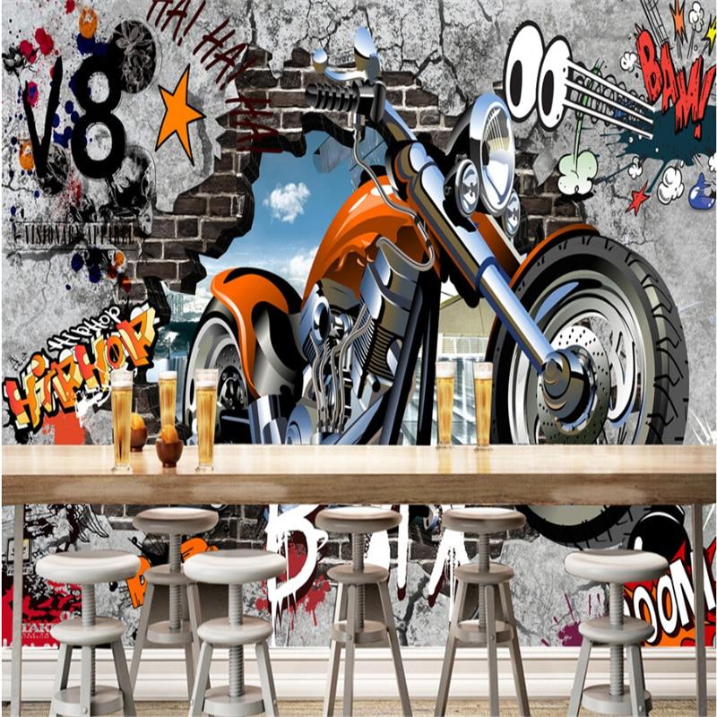 Beibehang Street Art Graffiti 3d Room Wall Paper Custom Photo Murals Wallpaper For Walls 3 D Papel De Parede Para Quarto In Wallpapers From Home