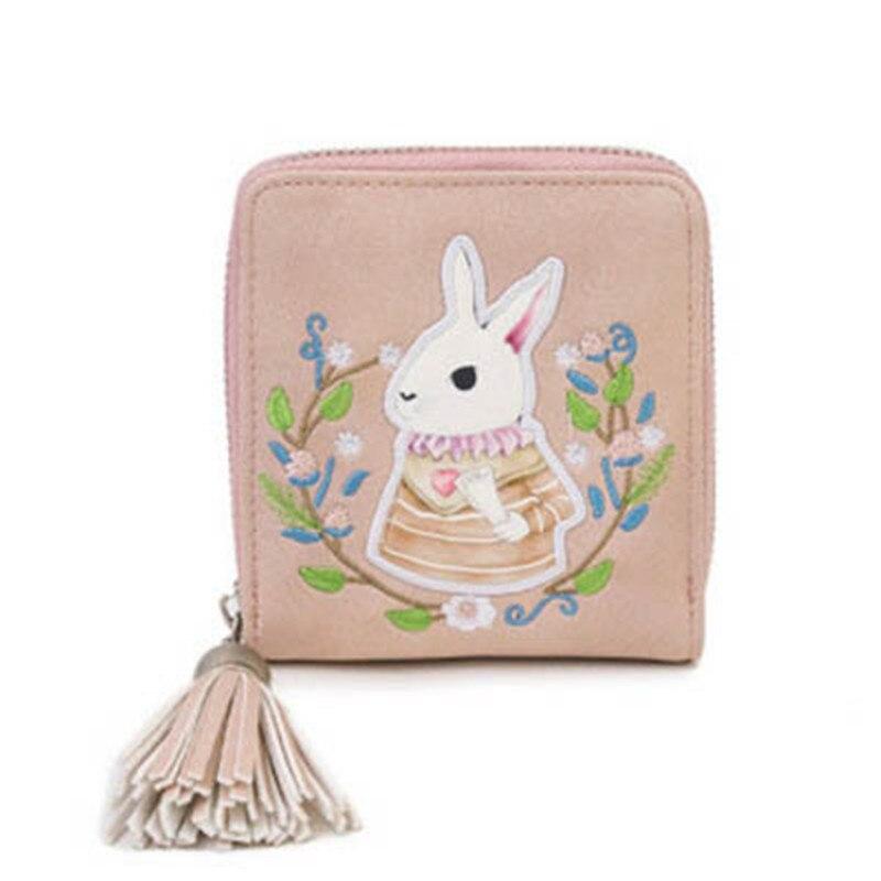 NIBESSER Embroidered Women Handbag Rabbit Print Tassel Pendant Lady Clutches Girls Purse Women Cute Bags Women Minimalist Bag