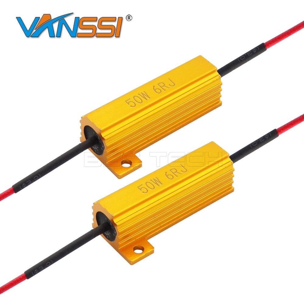 2X 50W 6ohm LED Load Resistor Fix LED Bulb Fast Hyper ...