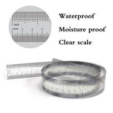 Калибр для точного измерения прозрачной пленки линейка дюймов: 0-40 дюймов метрика: 0-016 мм линейка сантиметр рулон ленты# CL30
