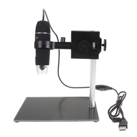 8 LED USB Digital Microscope 500X USB Microscope Repair Magnifier Magnification Soldering Standing Lamp FW1S