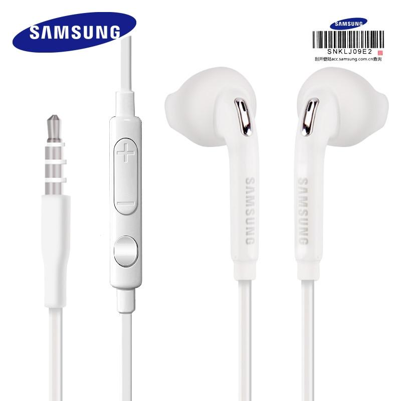 Проводные наушники Samsung EO-EG920, фирменная спортивная гарнитура с микрофоном, кабель 1,2 м, разъем 3,5 мм, кнопка для управления динамиком