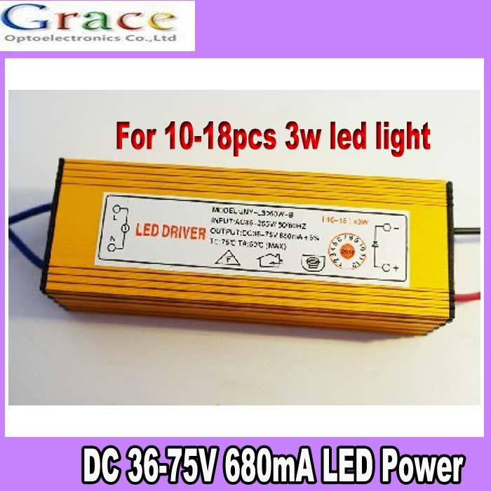 Lights & Lighting Light Bulbs Independent 2013 Hot Ip66 Waterproof Constant Current Driver For 14-18pcs 3w High Power Led Ac85-265v To Dc36-75v 680ma Curing Cough And Facilitating Expectoration And Relieving Hoarseness