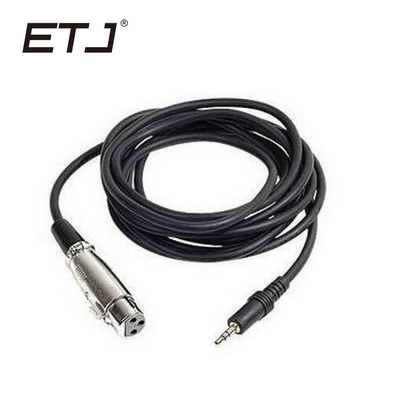 ETJ Brand Microphone Cable Length Audio Wired 2.5 Meters Stereo Jack XLR Low Noise Cables