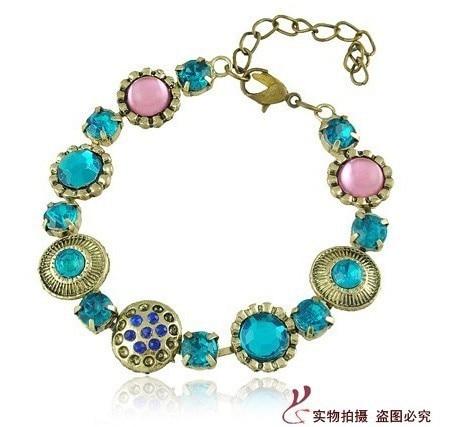 Free shipping 1 lot/10pcs Baroque style jewelry fashionable exotic bracelet bangles  night club jewelry