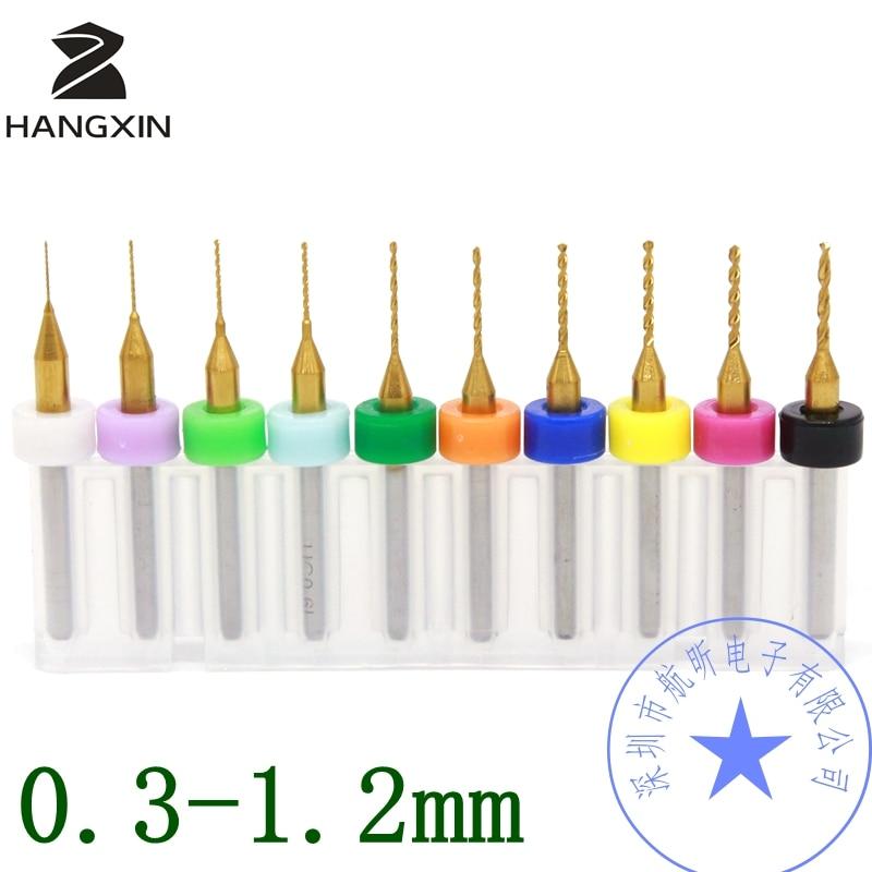 Titanio rivestito PCB drill bit 0.2-1.2mm, 10 PCSCNC CNC fresa, mini strumento di incisione circuito Stampato Dremel routerTitanio rivestito PCB drill bit 0.2-1.2mm, 10 PCSCNC CNC fresa, mini strumento di incisione circuito Stampato Dremel router