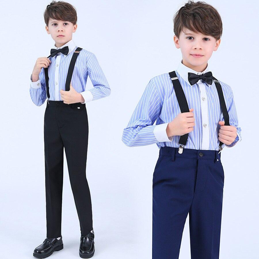 Children Formal Chorus Performances Clothing Set Kids Recital Party Dresses Costume Boys Girls Bib School Uniforms Clothes