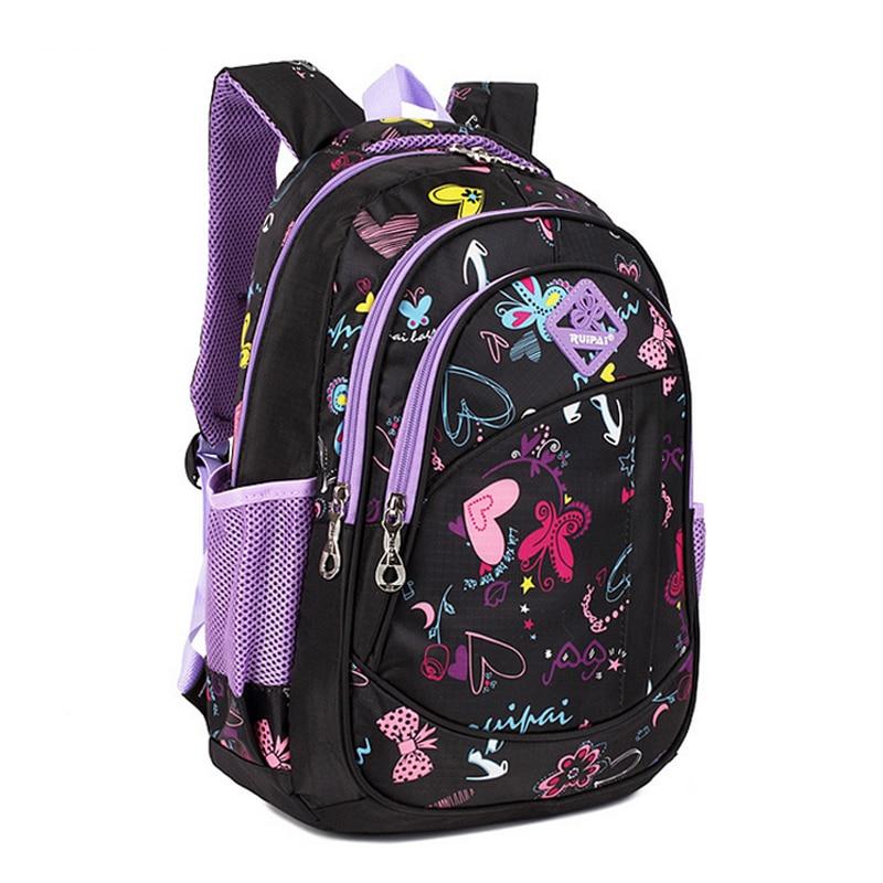 Cute Girls Floral Printing Elementary School Outdoor Bag Backpack Trendy  Children Kids Backpack Book Bag Student Satchel 9a0541f9f556b