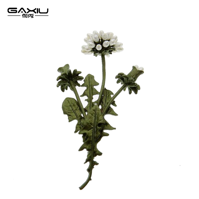 Women's Brooch Dandelion Flowers Girls Vintage Natural Pearl Alloy Plant Leaf Female Brooch Pins Scarf Fashion Party Jewelry