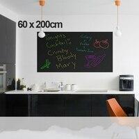 60x200 CM Extraíble Blackboard Pegatina Vinilo Pizarra Etiqueta de La Pared con El Líquido de la Tiza Pens5 Tizas Gratis