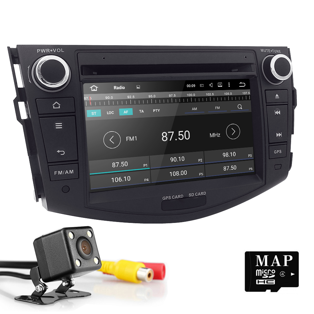 Quad Core 1024*600 Car DVD Player for Toyota RAV4 2006 2007 2008 2009 2010 2011 2012 Car GPS Navigation 7 Inch Radio Stereo SWC beautiful and pract fabric rear trunk security shield cargo cover black for toyota rav4 rav 4 2006 2007 2008 2009 2010 2011 20