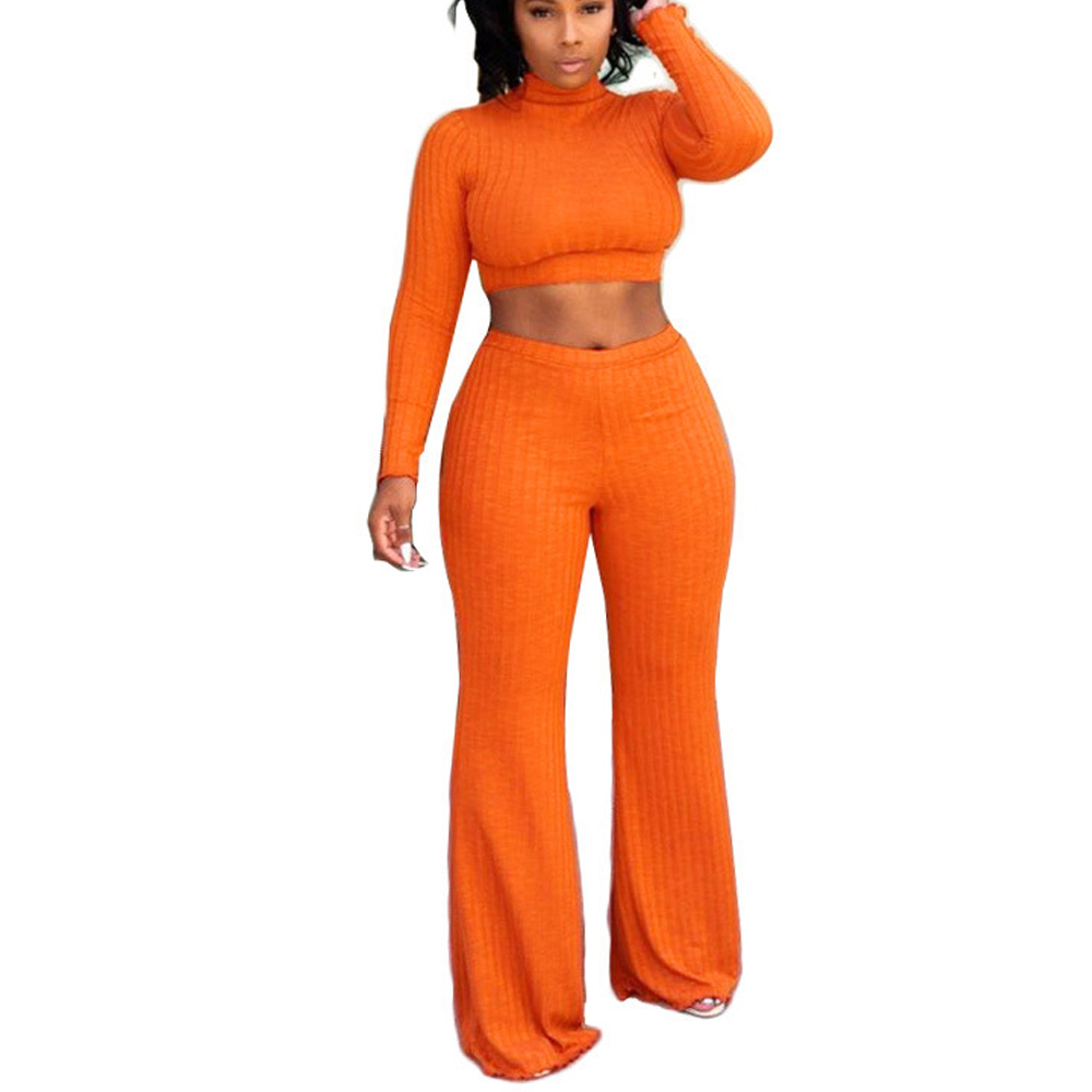 High Stretchy Women Jumpsuits Autumn Long Sleeve Two Piece Wide Leg Jumpsuit Romper Pit Twill Women Casual Jumpsuits