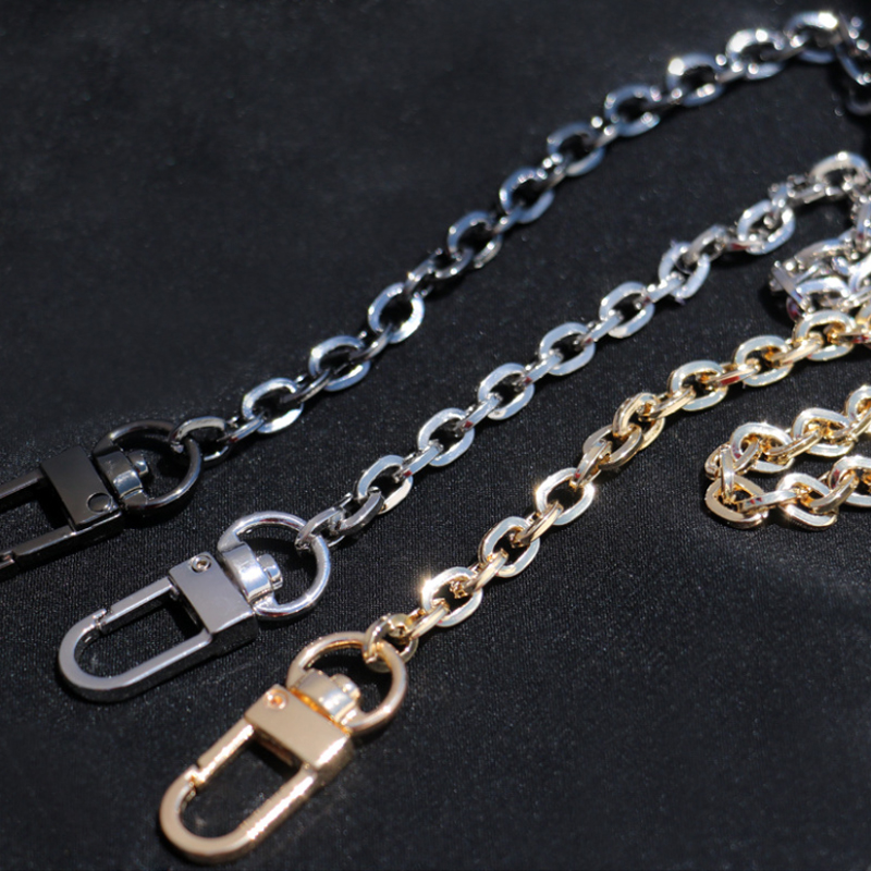 DIY 40cm-160cm Light 6mm Gold, Gun Black, Silver Replacement Purse Chain Shoulder Crossbody Strap For Clutch Bags, Mini Handbags