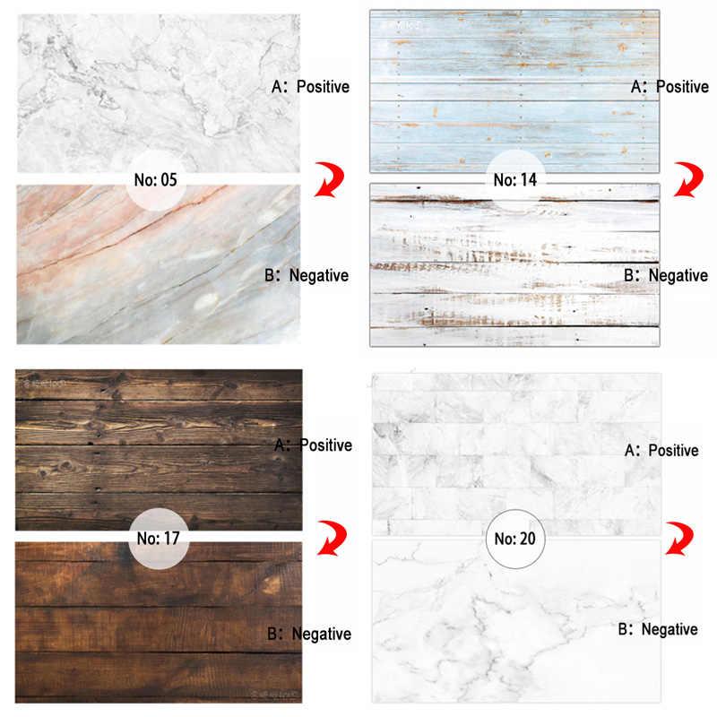 Двухсторонняя различные стили древесного зерна цемента мраморной текстуры фотография бумага для фона студия реквизит для еды косметический мини пункт