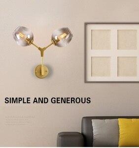 Image 4 - LukLoy أضواء الجدار مصباح الحديثة ماجيك فول مزدوج رئيس فرع الشمعدان غلوب DNA الجدار الشمعدان الإضاءة
