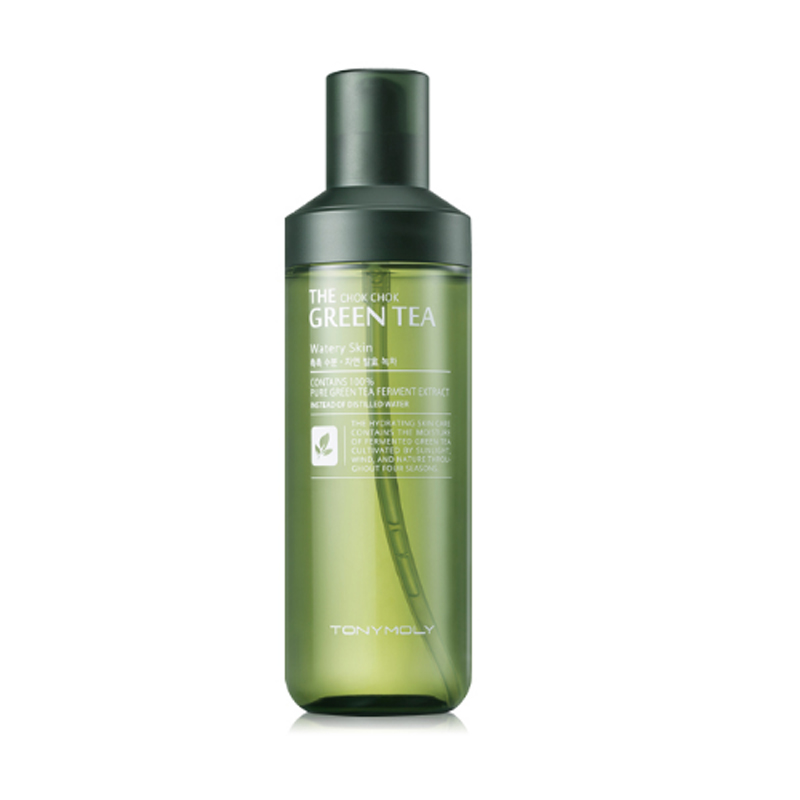 Korea Cosmetics The Chok Chok Green Tea Watery Skin 180ml Skin Care Lifting Face Serum Toner Anti Wrinkle Moisturizing Essence tony moly крем с экстрактом зеленого чая the chok chok green tea watery cream 60 мл