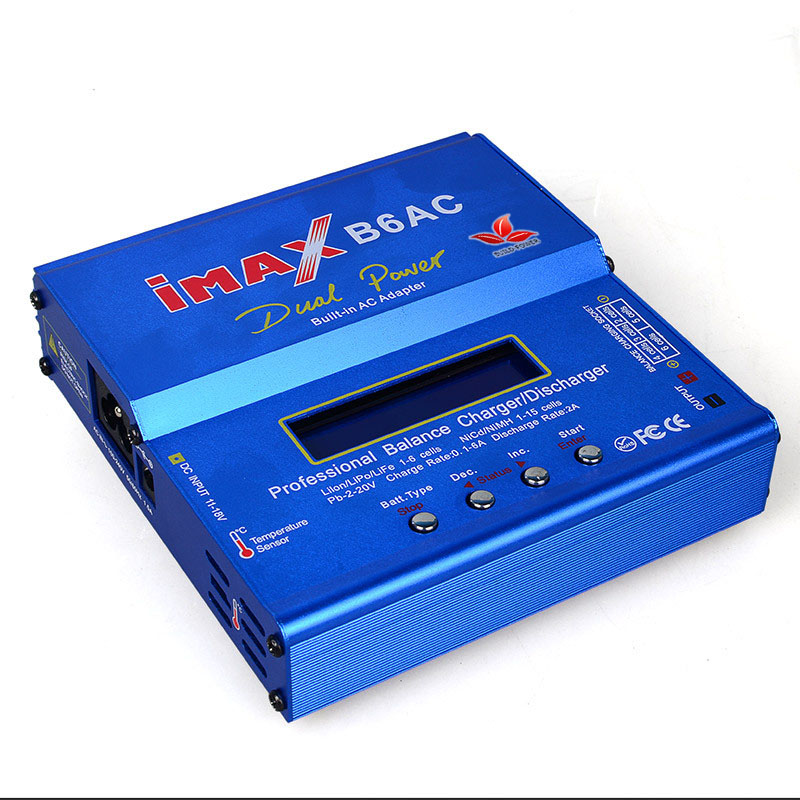 Akaso nueva IMAX B6 AC 80 W B6AC Lipo NiMH 3 S/4S/5S RC batería balance cargador + UE/ee.uu. plug cable de alimentación